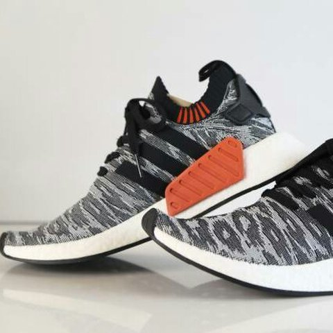 65af91acf Adidas NMD R2 PK Tiger Camo Black White Glitch BY9409 7 US 7 - Depop