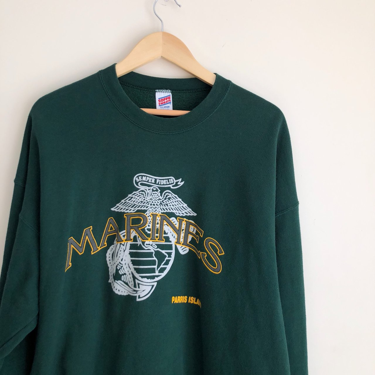 Nice vintage Marines crewneck Size XL Really nice used All - Depop 864c51d2c
