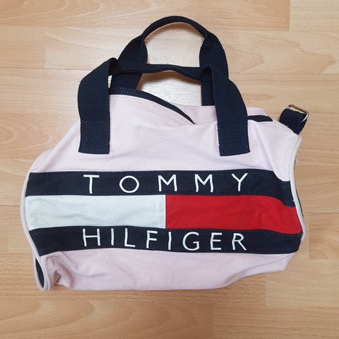 Tommy Hilfiger Duffle Bag - Pink (Shoulder Strap Not The a - Depop