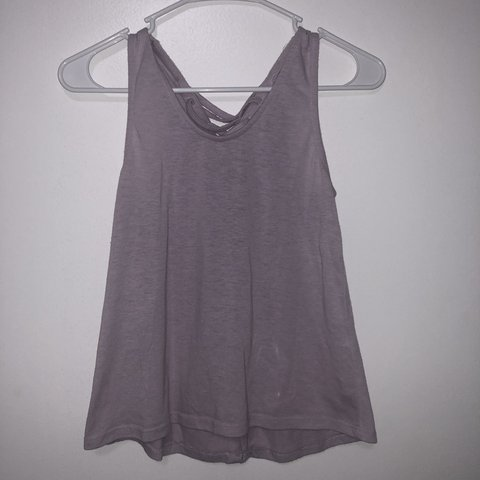 dd2258d741faff  cammiea10. 5 months ago. United States. lavender criss-cross open back  tank top -perfect condition