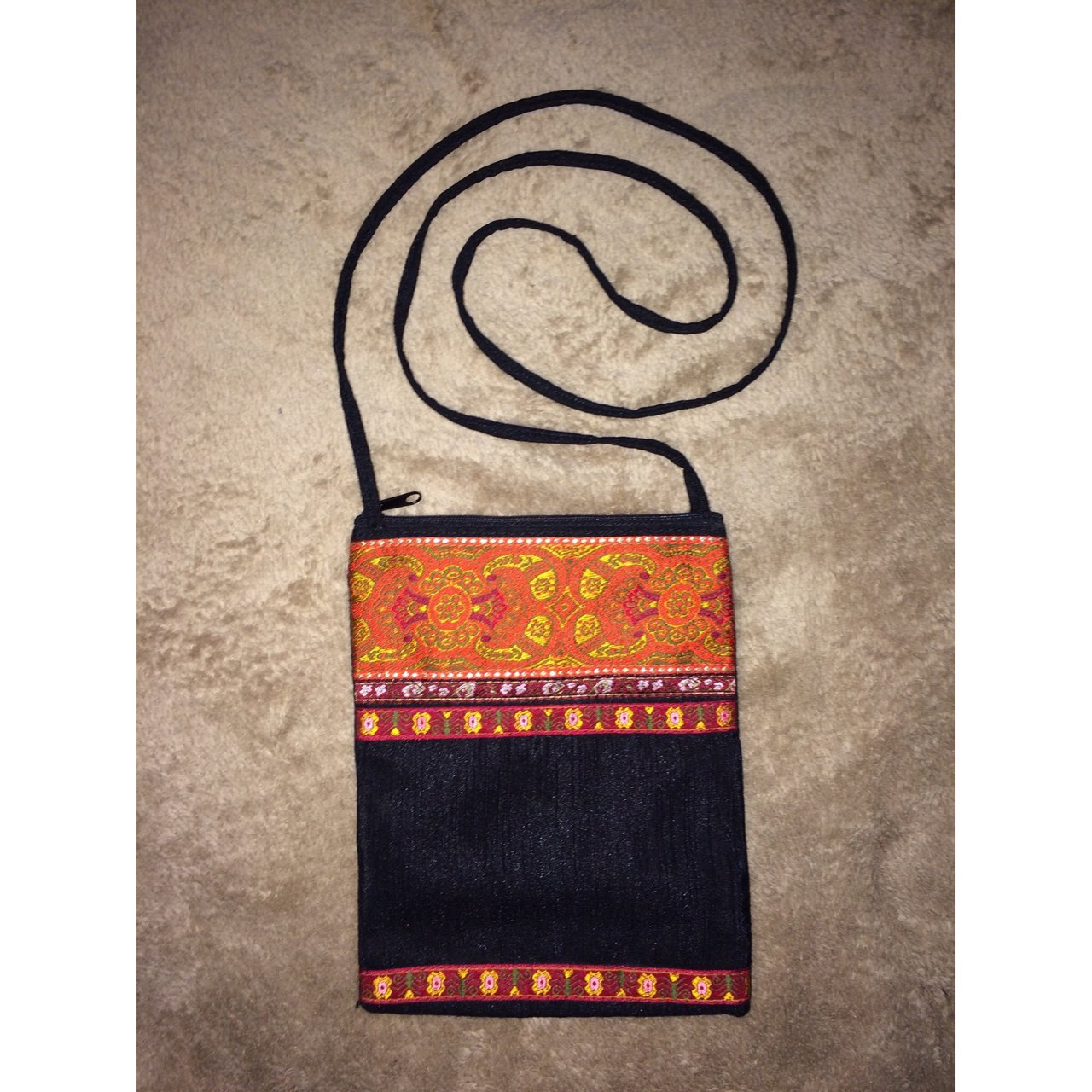 17994770ef Beautiful handmade vintage Indian crossbody bag purse. Great - Depop