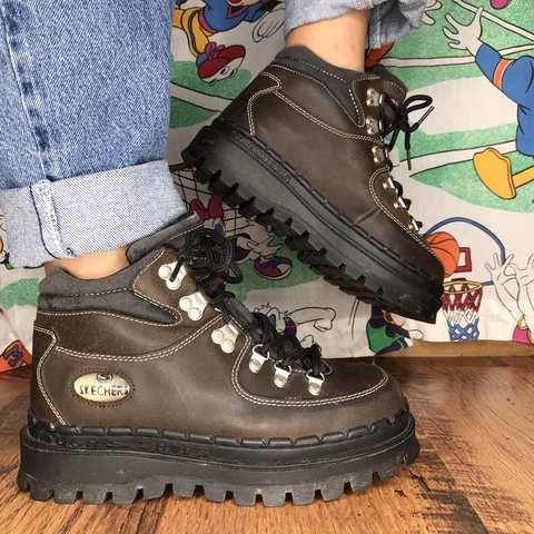 c5787577fbcb  alishaxcam. 3 months ago. United States. OMG Rare vintage Skechers jammers  brown hiking boots!
