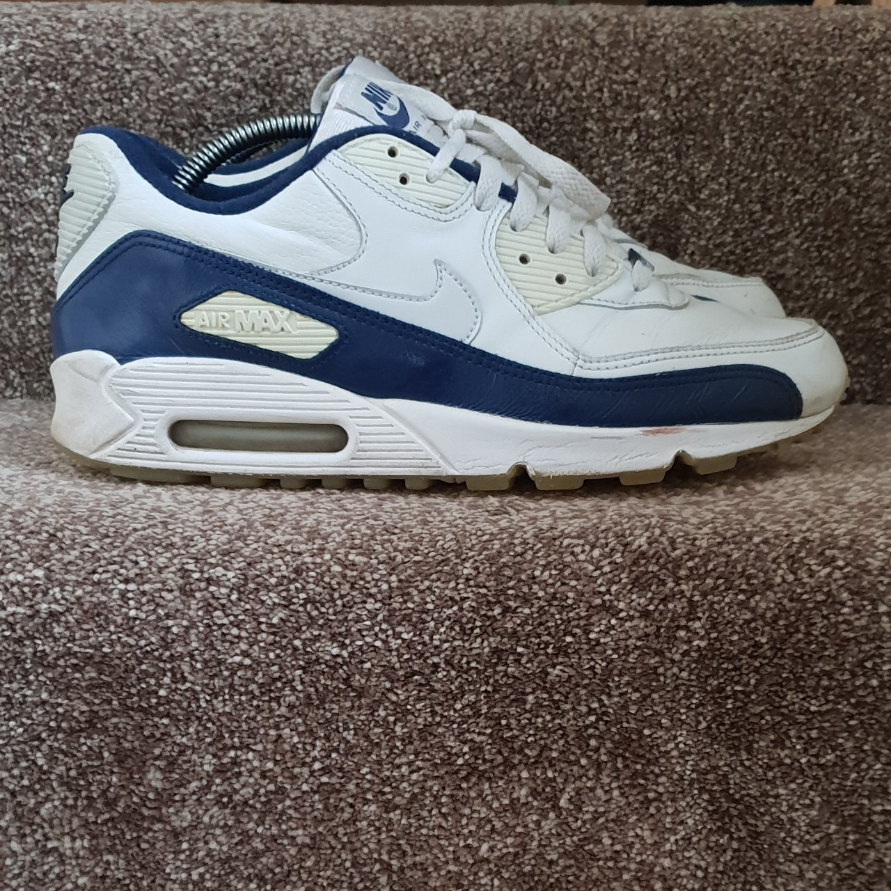 NEW   NIKE AIR MAX 90   MONOCHROMATIC NAVY LEATHER NWT