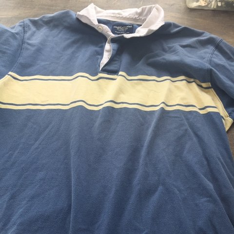 e34ee86c @niftystarshop. 19 days ago. Sumterville, United States. American eagle vintage  90s blue and yellow polo shirt ...