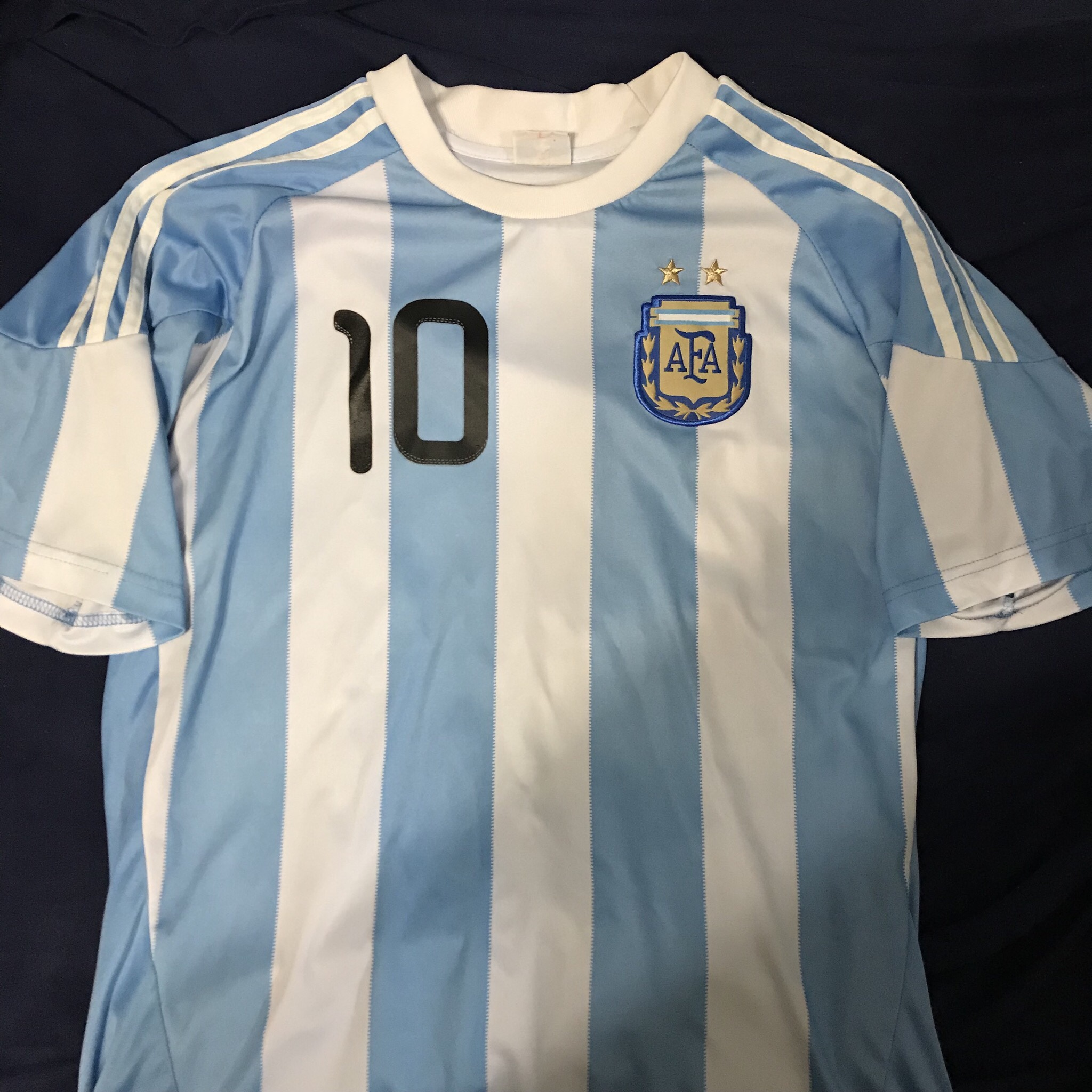 reputable site 0eb39 e111d Lionel Messi Argentina World Cup Jersey from 2010 I... - Depop
