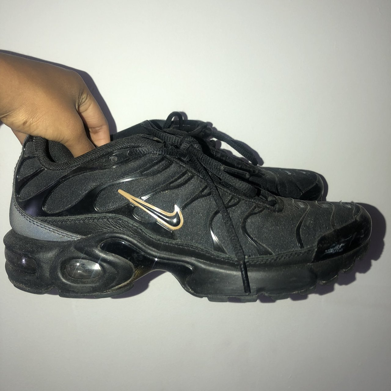 Nike TN's in Black with Gold tick