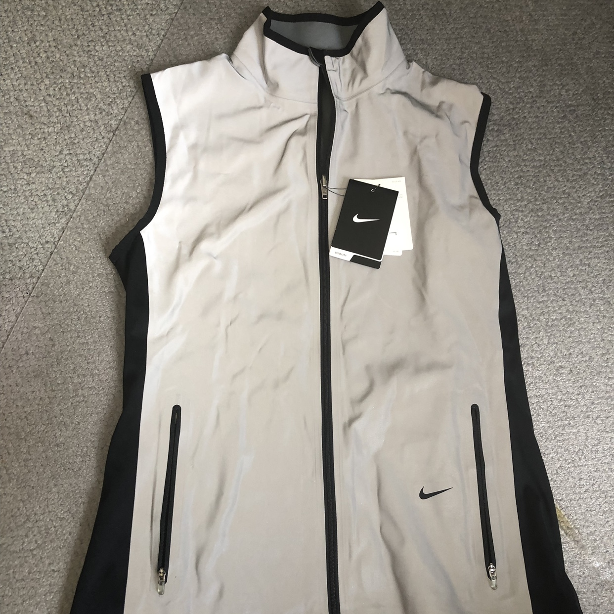 Women's Nike Reflective Vest with Flash Vapor in Depop