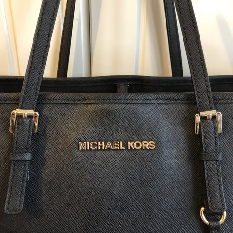 7768d363afed @alexdigi. 4 months ago. Enfield, United Kingdom. Real Michael Kors jet set  travel medium size saffiano leather black tote ...