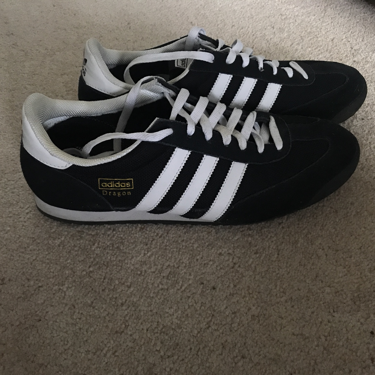 Men's black Adidas dragon trainers. , Uk size 10. , In...