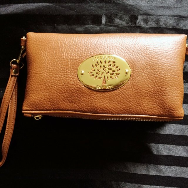 Replica Mulberry Tan Clutch Bag * Never been used * Almost ...