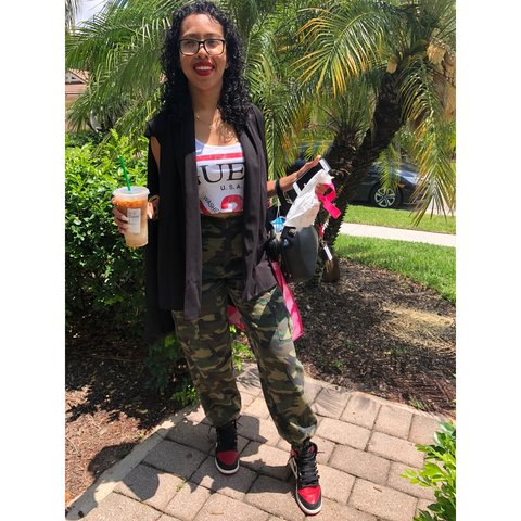 68ca47adc61ec Cadet Kim Oversized Camo Pants from Fashion Nova. BRAND NEW! - Depop