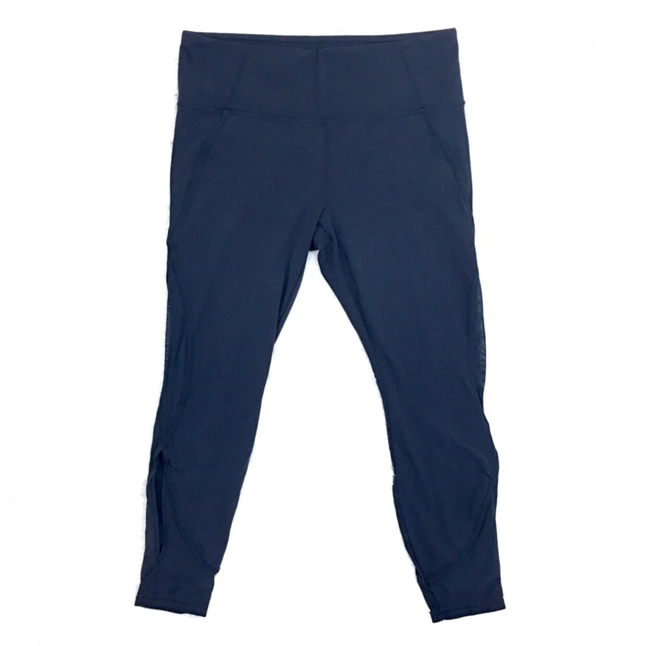 a9006620247346 @girlyoh. 2 months ago. United States. Athleta Navy Blue Mesh Salutation 7/8  Ankle Tights. Women's ...