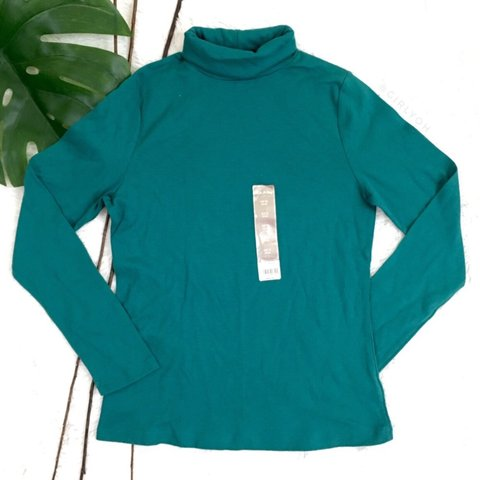 21105a8f85cbc  girlyoh. 7 months ago. United States. White Stag Solid Green Turtleneck  Long Sleeve ...