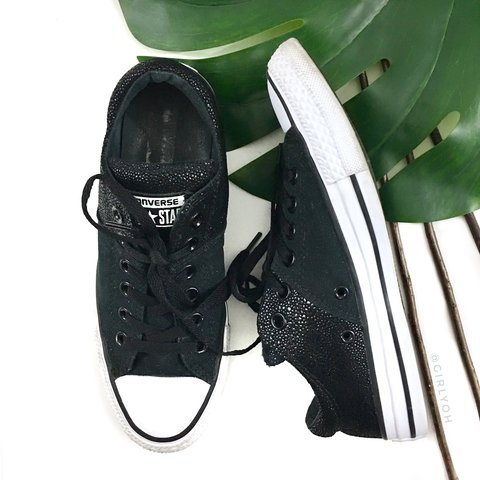 1e35987a07b9 Converse Chuck Taylor All Star Black Low Madison Metallic or - Depop