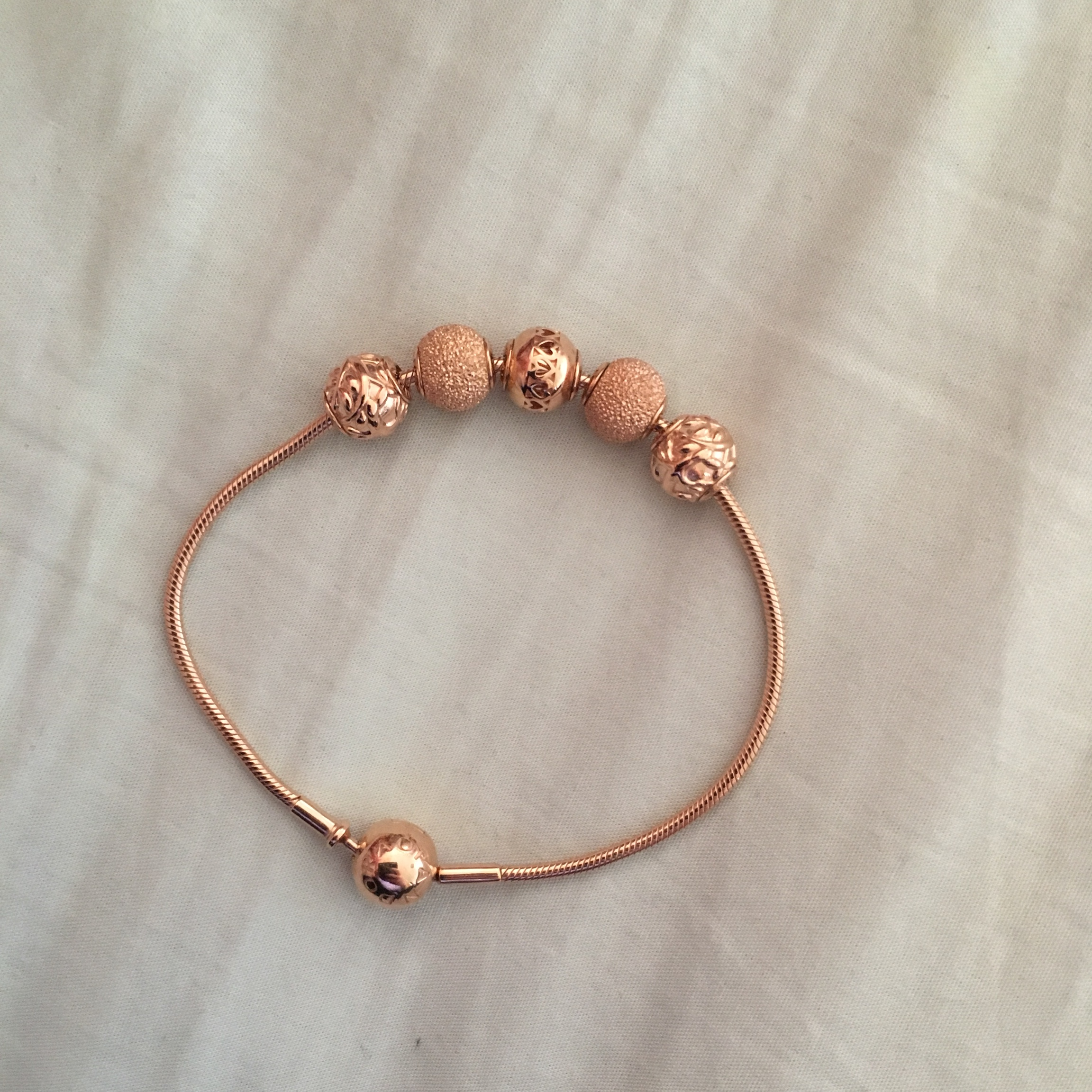 pandora essence collection rose gold charms
