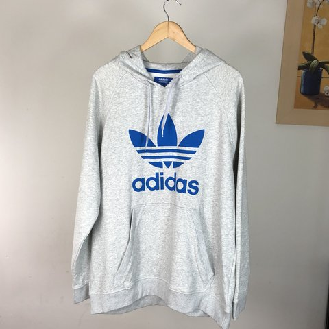 e94a86121214 @whatstheprice. 9 months ago. Oldham, United Kingdom. Adidas Pullover Hoodie  Grey Trefoil XL Graphic A000 Great Condition