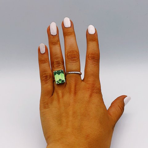 211fa310c @jewelry_nyc. 11 months ago. New York, United States. Tiffany Sparklers  green 💚 quartz cocktail ring💍 in sterling silver.