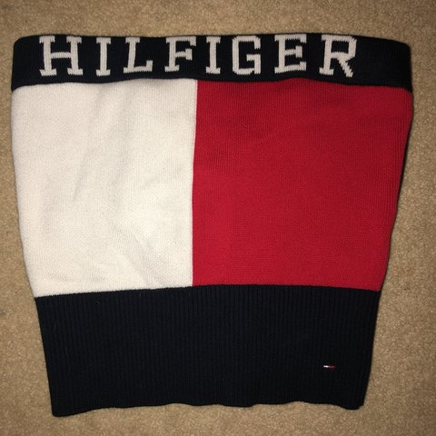 a36edfb088eb62 Tommy Hilfiger cropped tube top - Depop