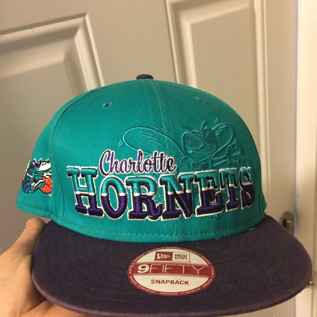 Charlotte Hornets SnapBack Hat 🏀 Made by New Era 9 Fifty - Depop 64f305e44cf