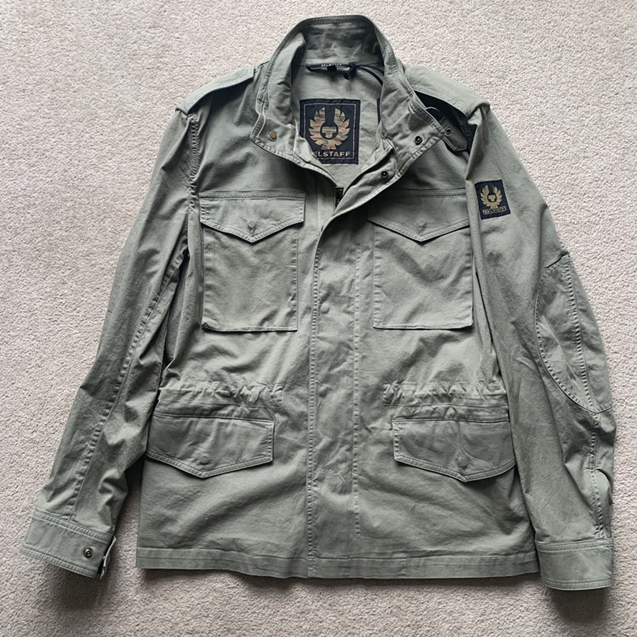 Belstaff Green Cotton Field Jacket New With Tags Perfect