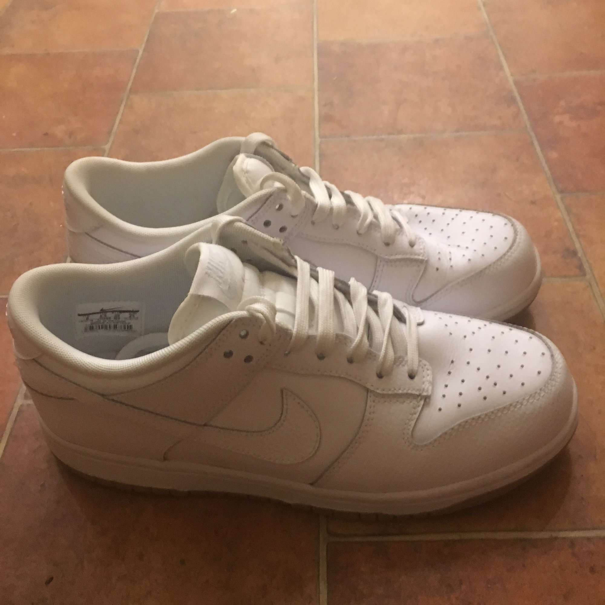 more photos 9e608 a4aa1 Nike Dunk Low essential trainers in white.... - Depop