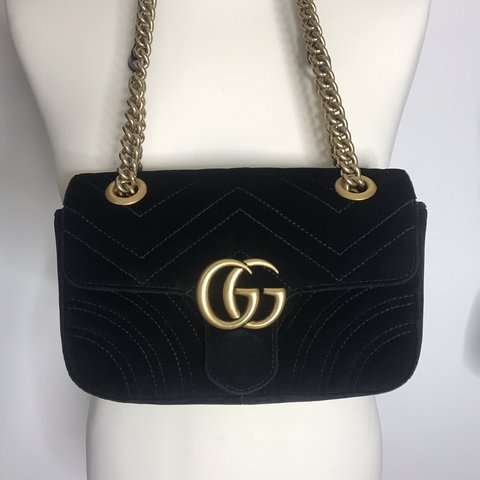 8ea61f6905732a Gucci GG Marmont Velvet bag. Excellent like brand new Comes - Depop
