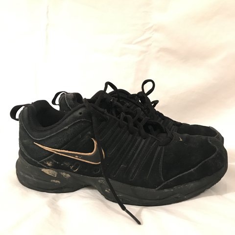 nike black suede and gold tick 95s