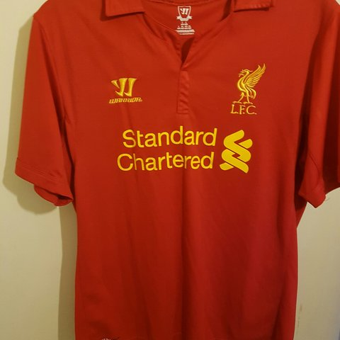 4f9bb619e3b Warrior Liverpool Home Shirt 2012 2013  footballshirt - Depop