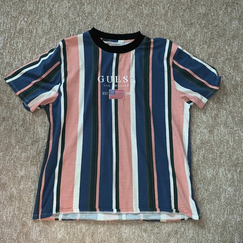 08e7d0f21a @thepurpler. yesterday. Boerne, United States. Guess jeans basic striped T  size XL