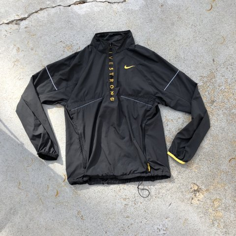 nike livestrong windbreaker and pants. very light and black - Depop 08c8a962d