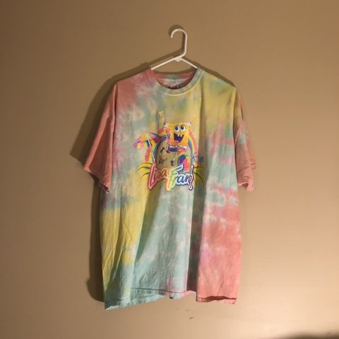 Lisa Frank X Spongebob Tie Dye Shirt Size 2xl Worn And Emo Depop