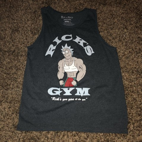 "0dc0502a6548ef Men s muscle tank top Rick and Morty "" Ricks Gym "" shirt."
