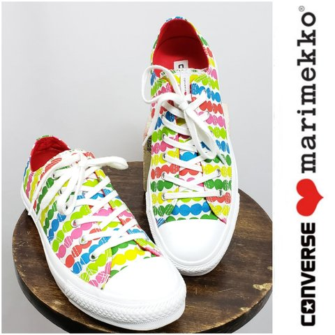 687331e643951e Limited Edition Converse Marimekko Polka Dot Sneakers All to - Depop