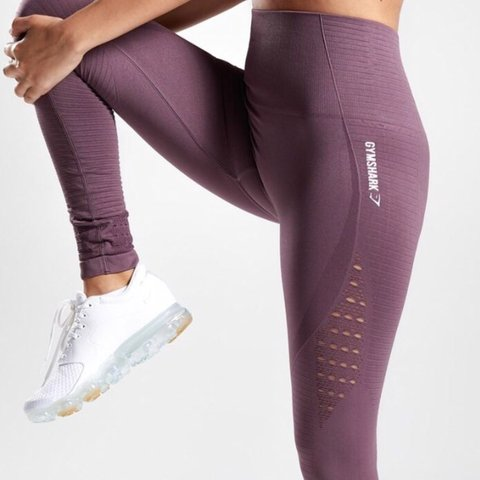 0421ca01dcc6be @jmgarcia996. 3 months ago. Bloomington, United States. Gymshark Energy Seamless  highwaisted leggings in the dark purple - size ...