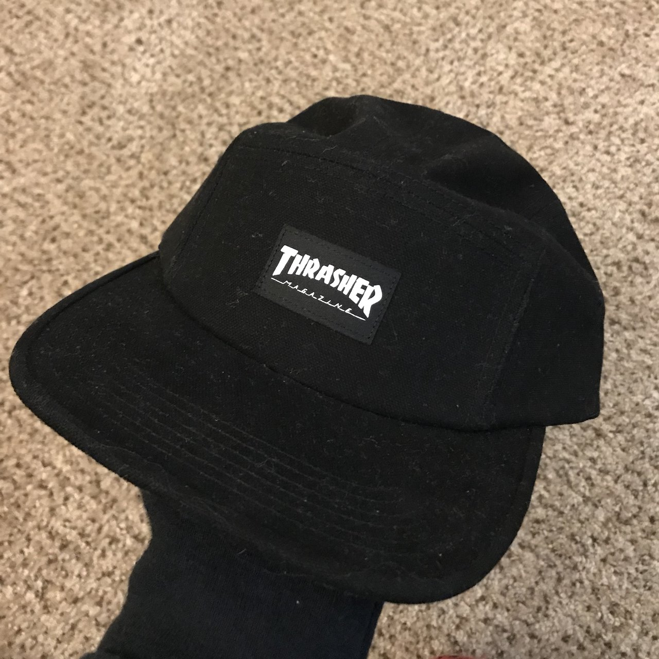 924e5d5aac3 New Thrahser five panel hat 🧢 Message me for any questions - Depop