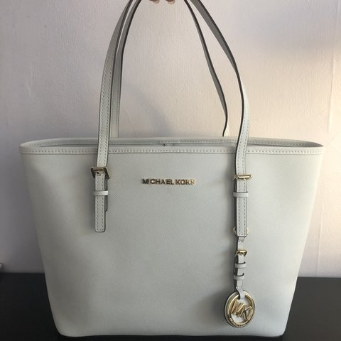 8e0793d9f1 Michael Kors White tote bag* *never used* *comes with dust - Depop