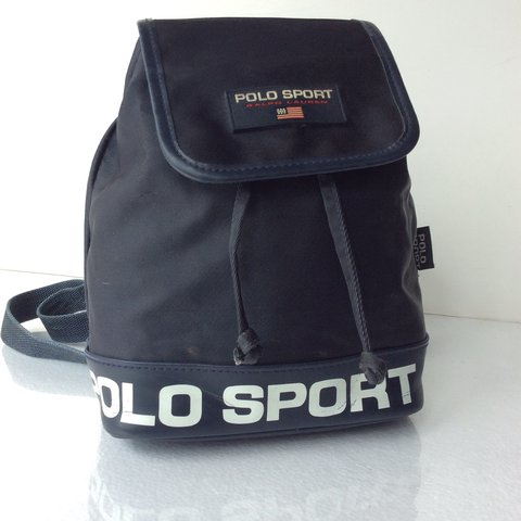 """81d72857a4 VINTAGE POLO SPORT MINI BACKPACK.  ONSALE approx 10""""H x x - Depop"""