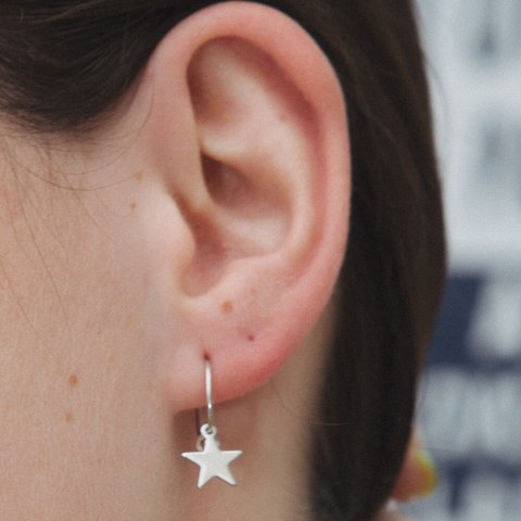 edd71212a @ahoyjoy. 8 months ago. Boiling Springs, United States. New SILVER star  charm brandy Melville earrings