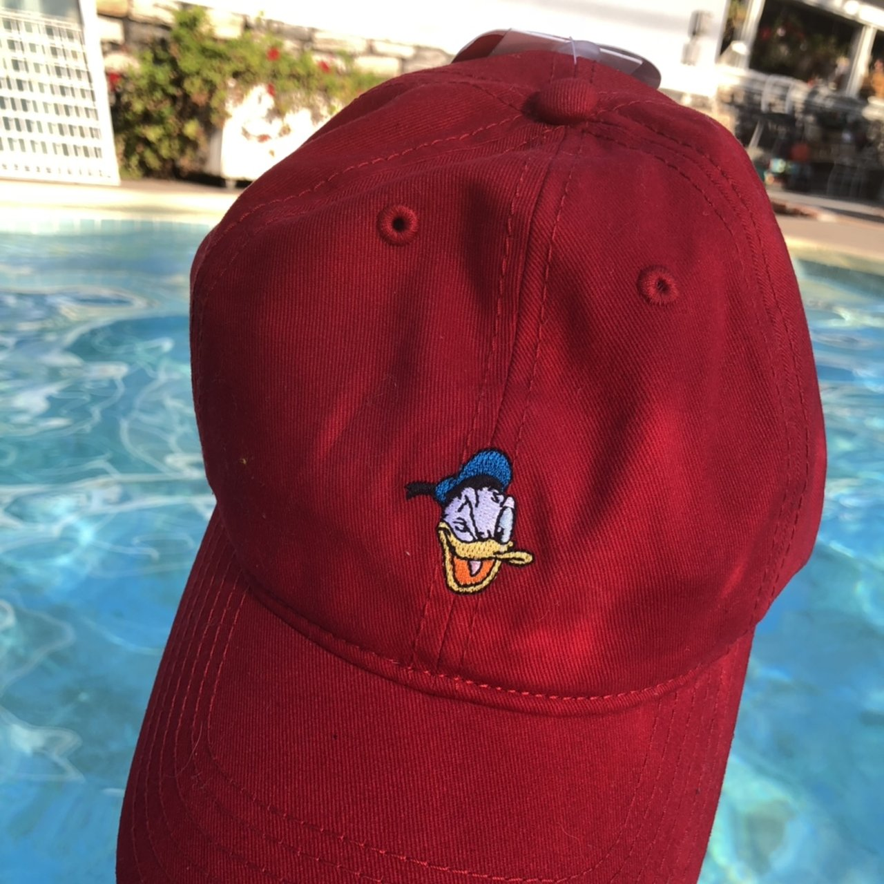 c701fd7e569 Disney Donald Duck Hat in fresh Blood Red. Adjustable. w  - Depop