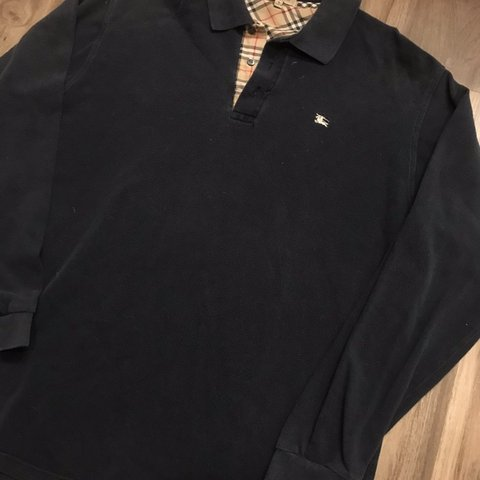 1a4a27207 @northtexaskicks96. 2 months ago. McKinney, United States. Burberry Long  Sleeve Polo Shirt Tagged Large Pit ...