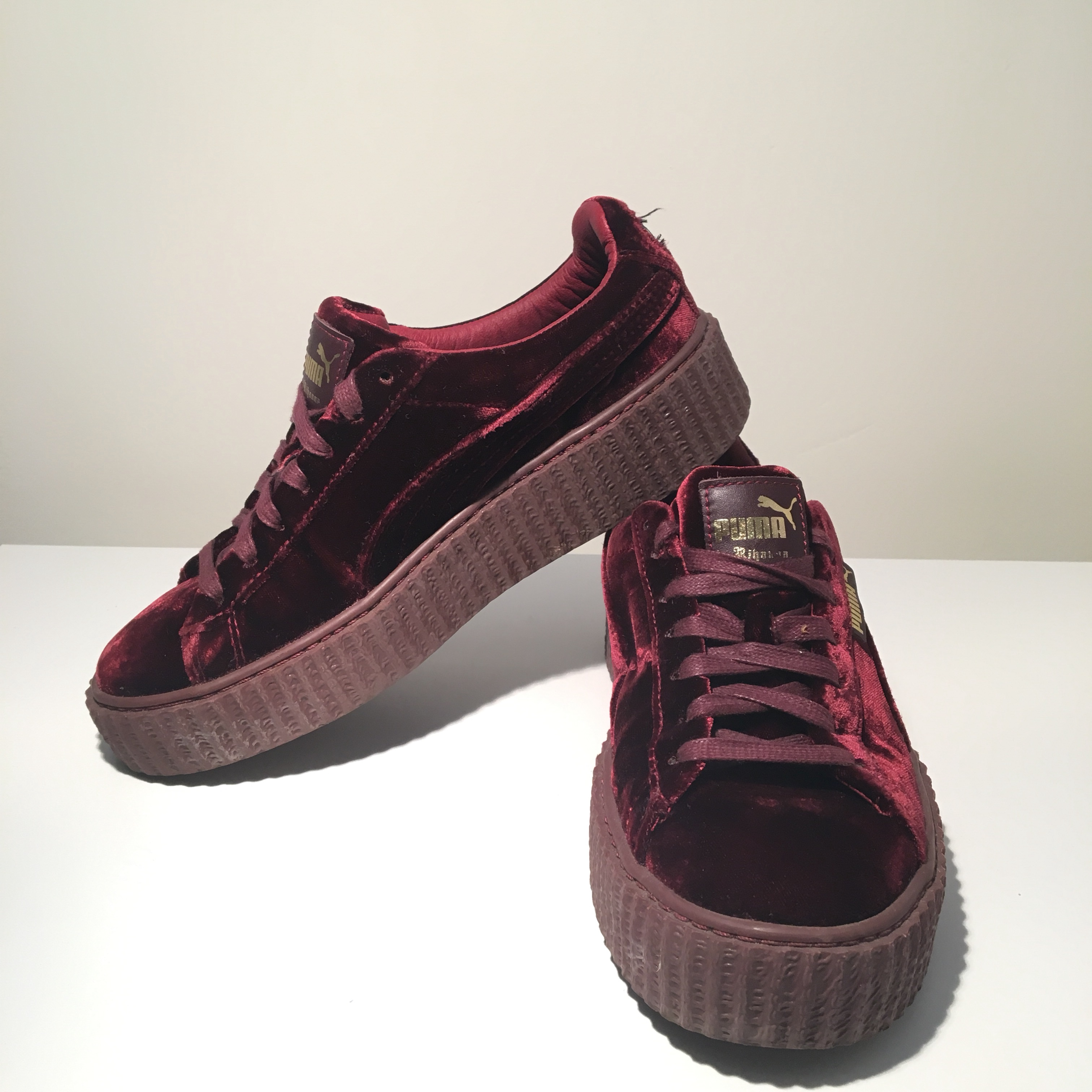 size 40 0c304 7059a Rihanna Fenty Puma Creepers Red Velvet size 7.5... - Depop