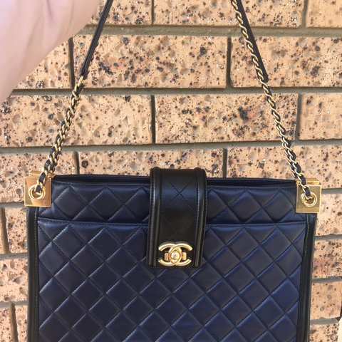 6636675f8cec9b Authentic Genuine Chanel Bicolor Shopping Tote Bag Purchased - Depop
