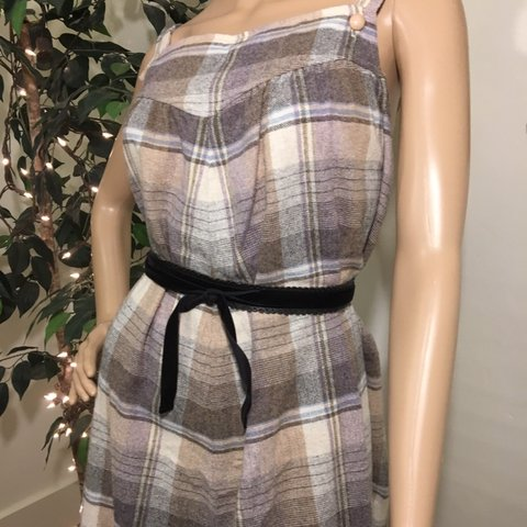 8ffca4a1996a9 @legreniermagiquevintage. 6 months ago. Henniker, United States. Vintage  1960s 60s Muted Plaid Sears Maternity A-Line Tent ...