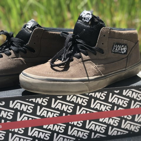 Rare Vans Half-Cab rust brown and black color way. Lightly a - Depop b78e2dc90