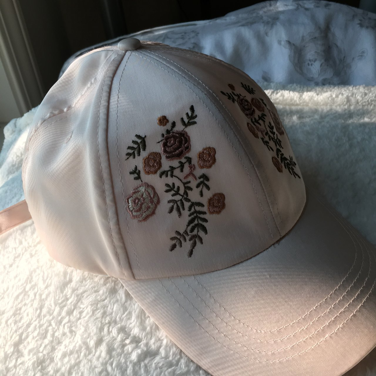 cc1e87195dd black faux leather forever 21.  7 · distressed pink dad hat from.  5 ·  💫Embroidered light pink cap💫 For al