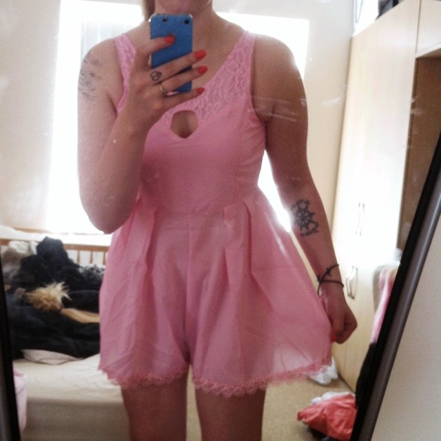 9ce5e2e49 Pretty playsuit I got two sizes as didn't know what would I - Depop