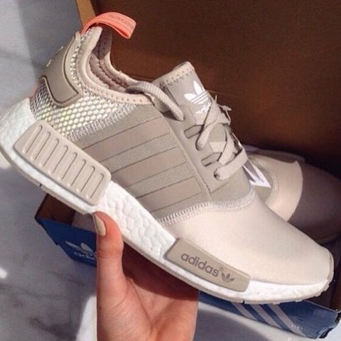 730debccd Adidas nmd clear light brown sun glow tan sand nude. Size 6. - Depop