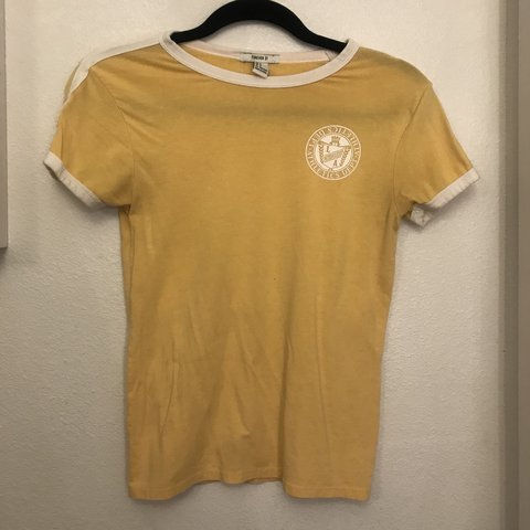 adff2797 One of my favorite shirts lemon yellow Dept. of Athletic a j - Depop