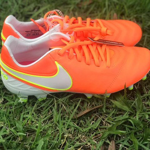 31eadb9c4 Nike Tiempo Soccer Cleats Explode onto the pitch in the of - Depop