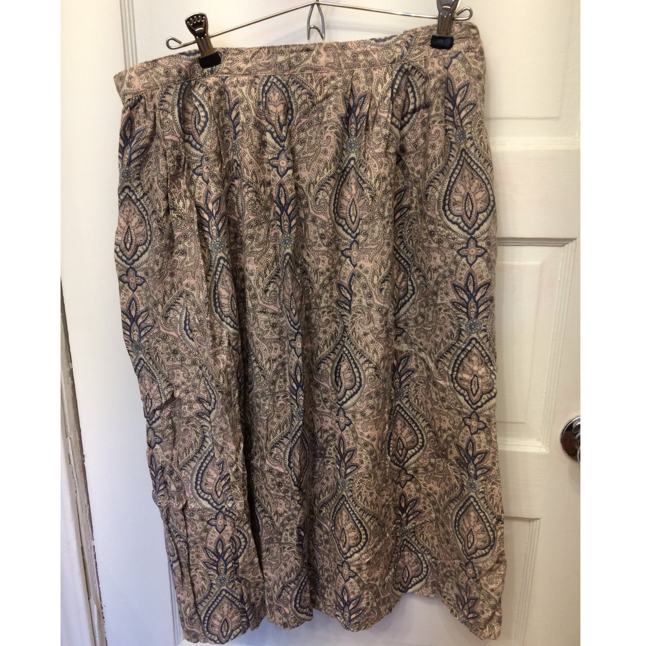 c971f5772c Talbots pink, blue, and gray paisley skirt / would be super - Depop
